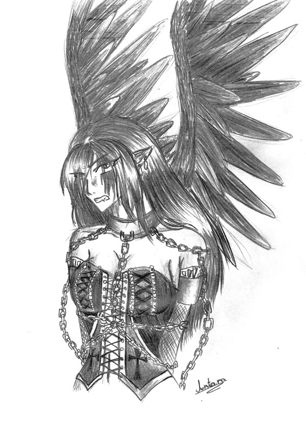 Fallen Angel by Antarija
