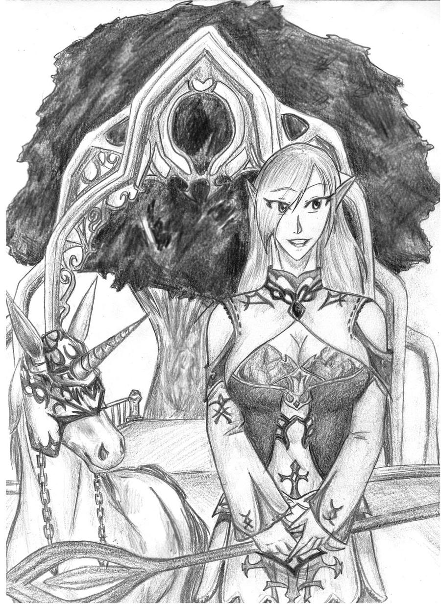 Elven Summoner by Antarija