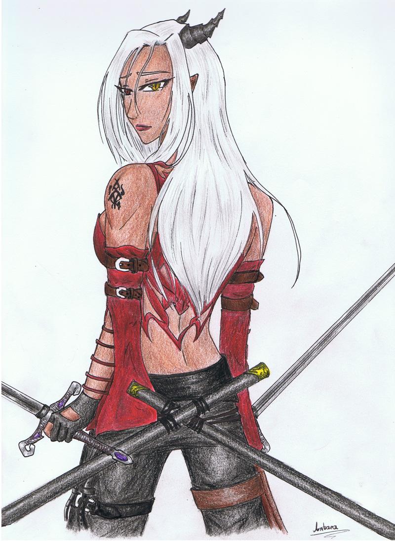 Demonic fighter by Antarija