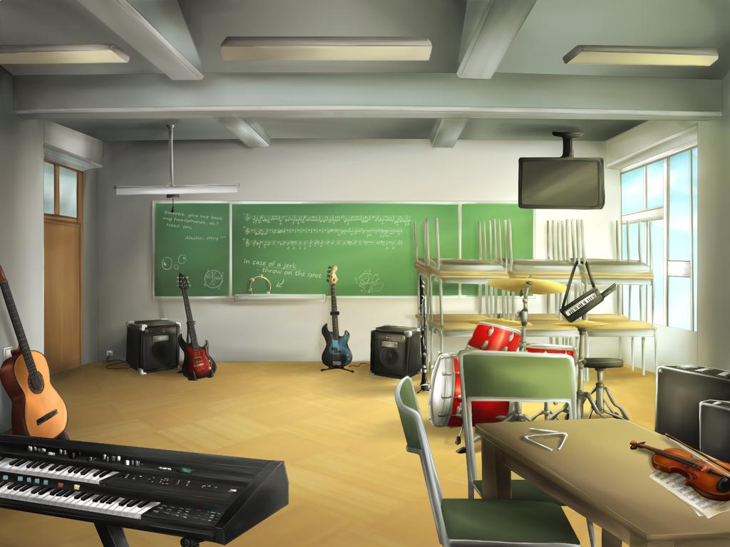 Nuzlocke VN collab - Music Room by Antarija