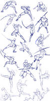 Battle/action poses