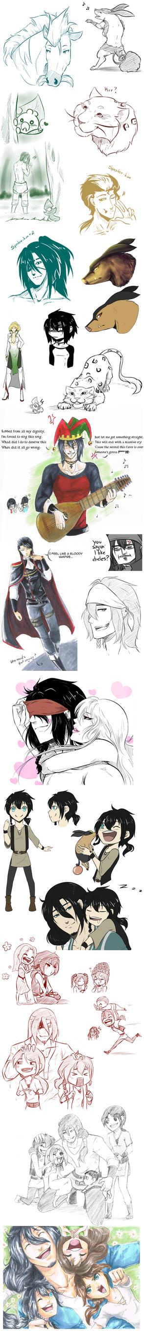 Nuzlocke doodles by Antarija