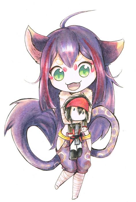 Sheyri and her Nyaster by Antarija