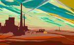 factory, dawn