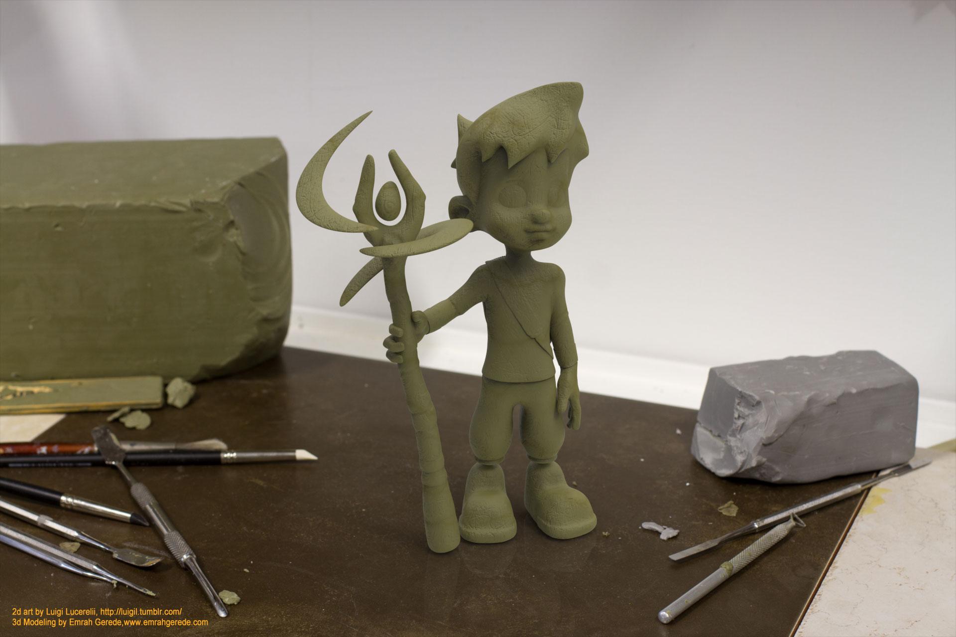 Leo Digital Clay Model