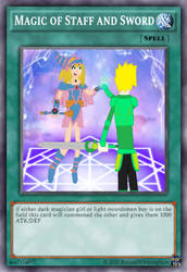 [fan made] Spell Card - Magic of Staff and Sword by rolandwhittingham