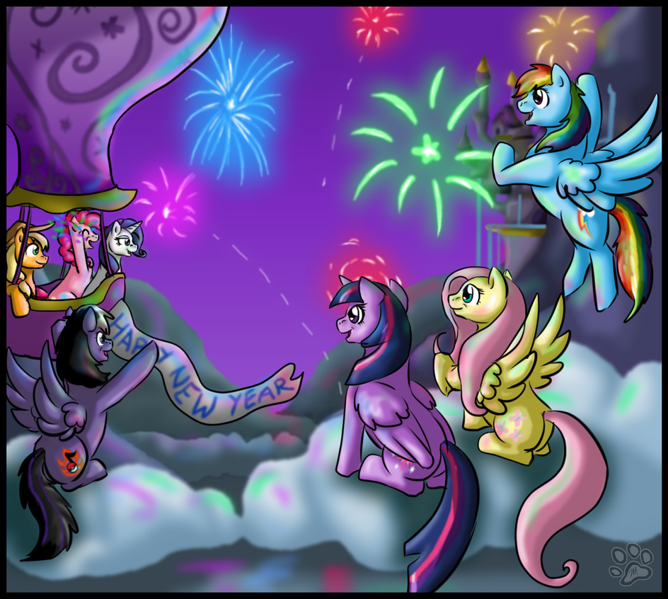 New years Fireworks (2013) by StormBlaze-Pegasus