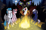 On a Cold Dark Night just like this one (collab) by StormBlaze-Pegasus