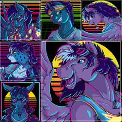 Retrowave Icons Batch 1