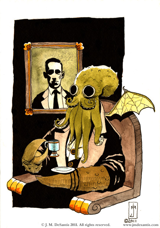 Cthulhu Taking Tea by jmdesantis