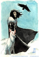 Jon Snow and Ghost by jmdesantis