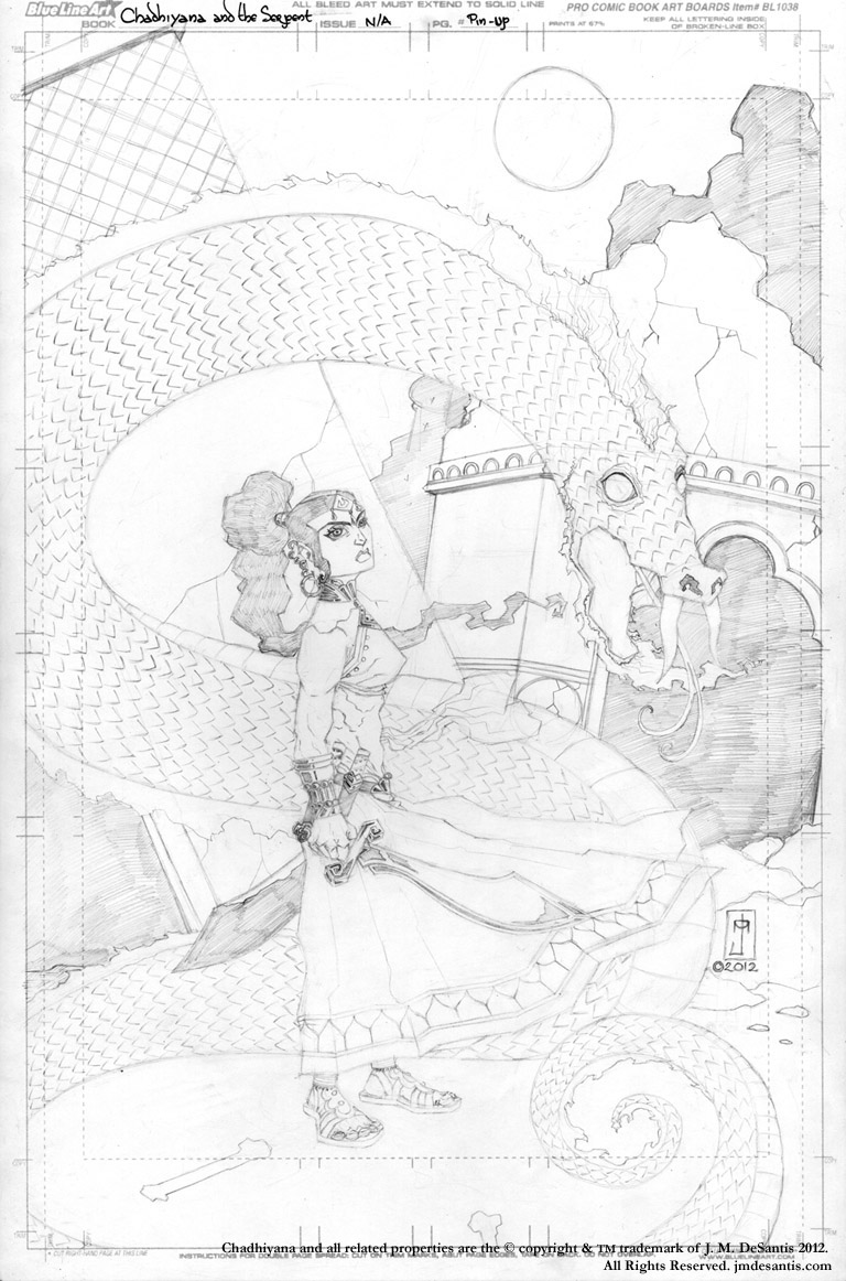 Chadhiyana and Sagreembal (drawing) by jmdesantis