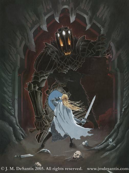 Fingolfin and Morgoth by jmdesantis