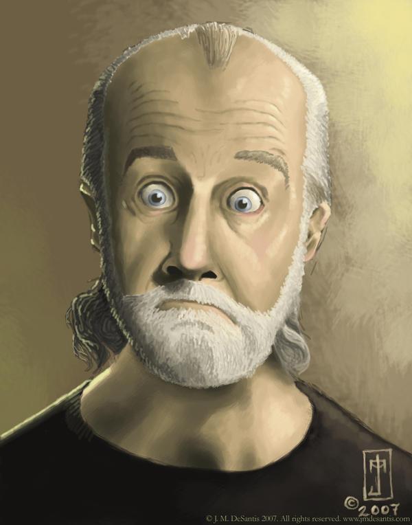 George Carlin by jmdesantis