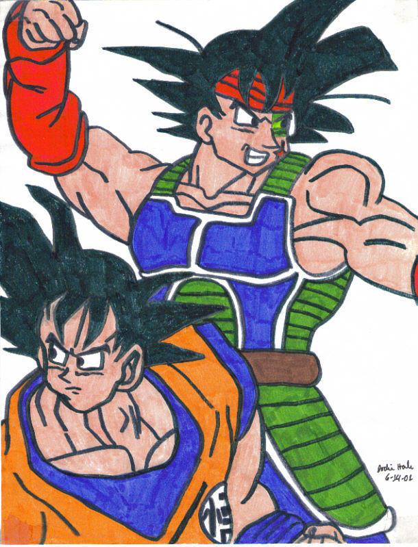 Goku and Bardock by JwalsShop