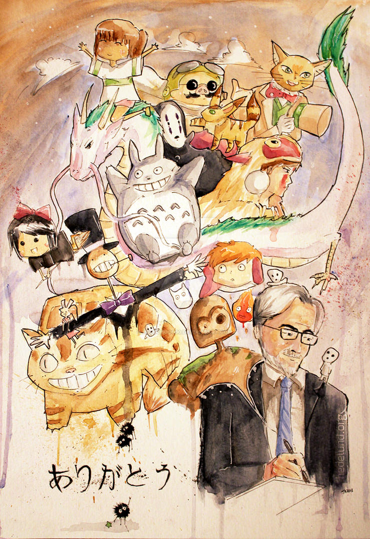 Arigatou Hayao Miyazaki by L0C0CH0C0B0