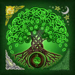 Circle Celtic Tree of Life by foxvox
