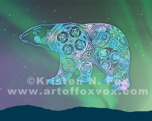 Celtic Polar Bear by foxvox