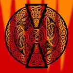 Celtic Knotwork Dragons - Fire