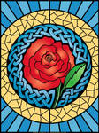 Celtic Rose 'Stained Glass'