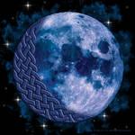 Celtic Knotwork Blue Moon