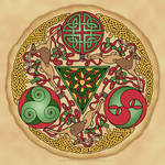 Celtic Reindeer Shield