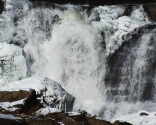 Winter Waterfall 2 by foxvox