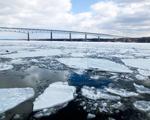 Rhinecliff Bridge over the Icy Hudson River