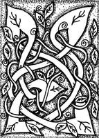 ATC 020 - Entwined Vines by foxvox