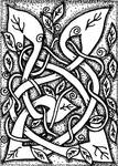 ATC 020 - Entwined Vines