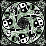 Celtic Spiral Stepping Stone