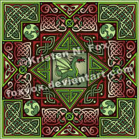 Celtic Dragon Labyrinth by foxvox