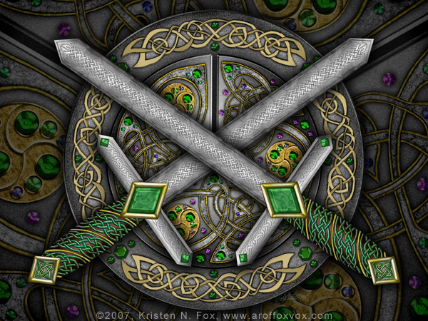 Celtic Daggers by foxvox