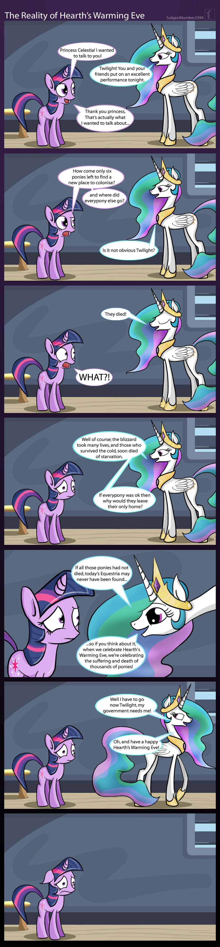 Reality of Hearth's Warming Eve by SubjectNumber2394