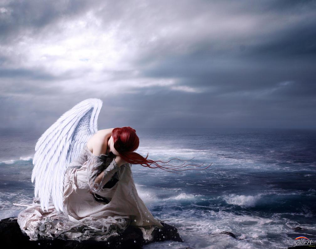 fantasy art angel sad - photo #30