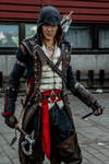Connor Kenway Cosplay, Battle stance