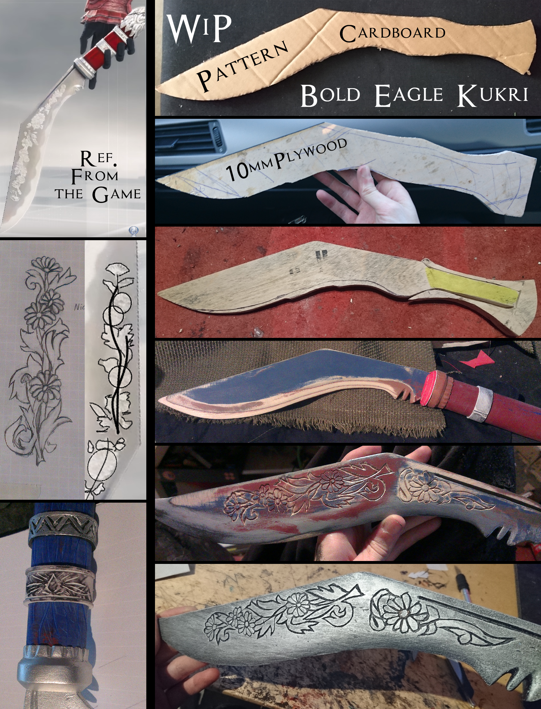 Ac Syndicate Bold Eagle Kukri Wip By Pearlite On Deviantart