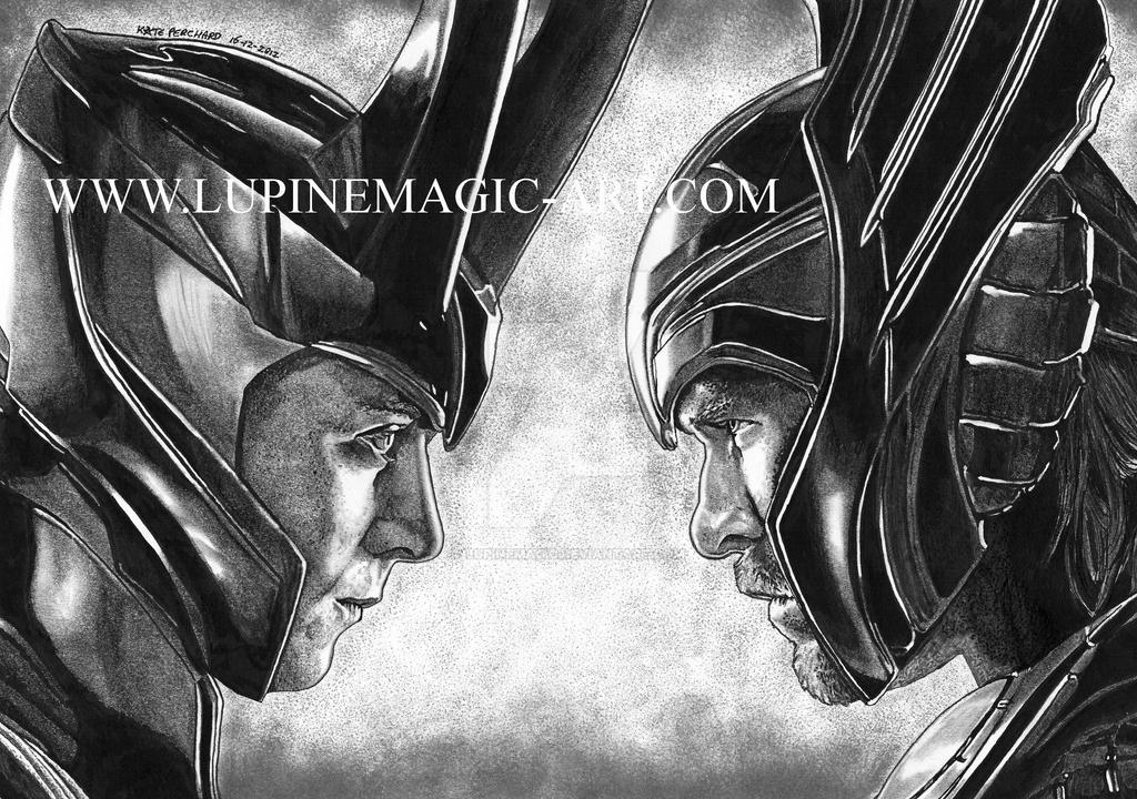 Loki And Thor By Lupinemagic On Deviantart