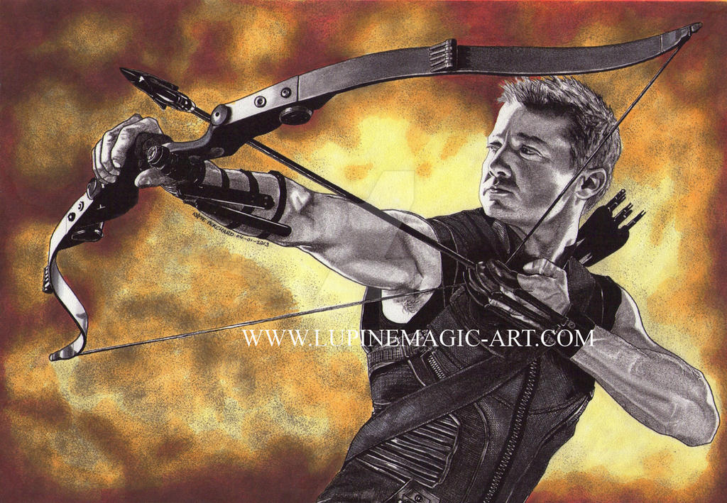 Hawkeye - colour by lupinemagic
