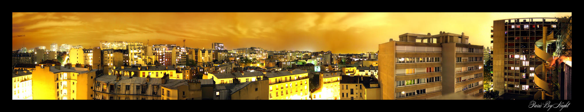 paris city by night by klefer