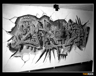 tworode graffiti by klefer