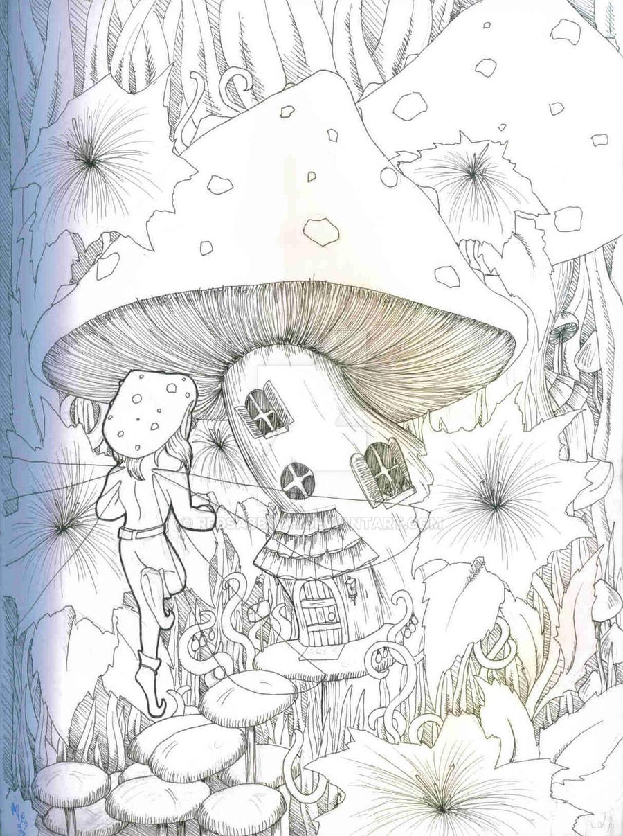 Red House Drawing: Mushroom House By RedSabbath On DeviantArt