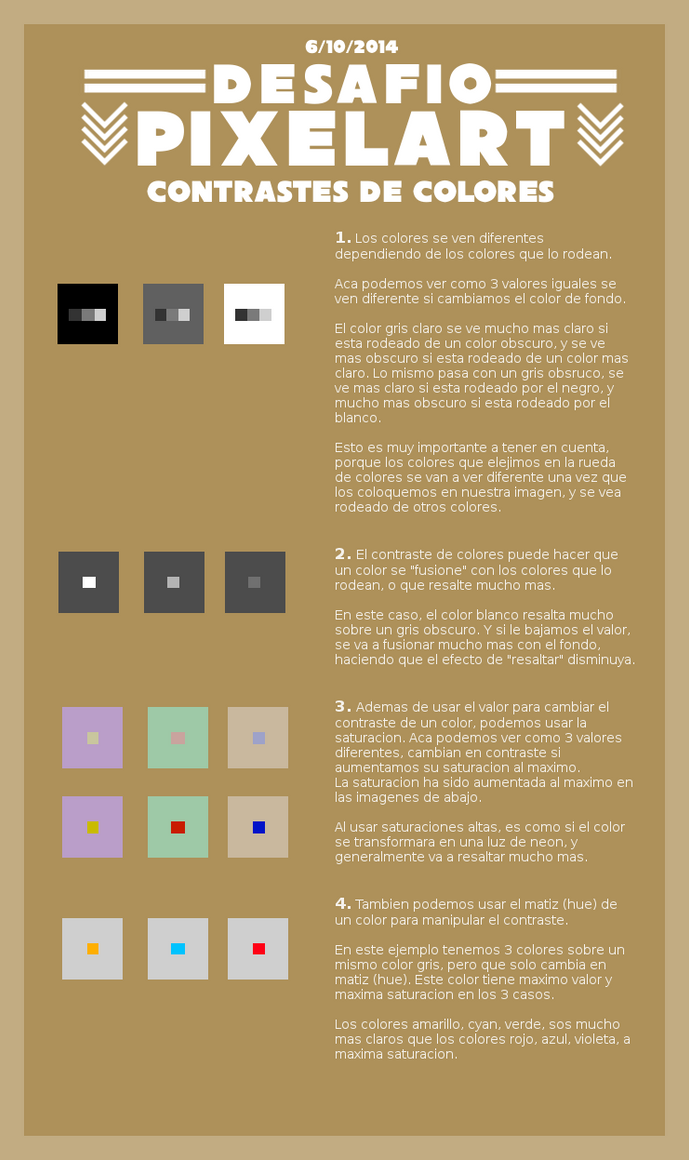Desafio Pixelart 6/10/2014: Contrastes de colores by Christian223
