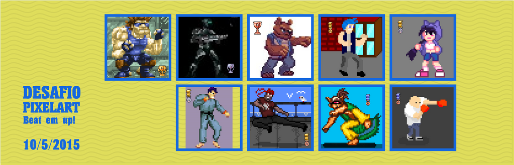 Desafio pixelart 10/5/2015: Beat em up by Christian223