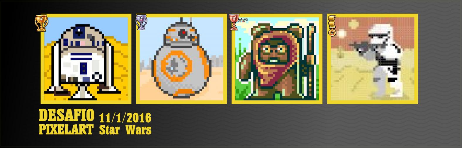 Desafio pixelart 11/1/2015 Star Wars by Christian223
