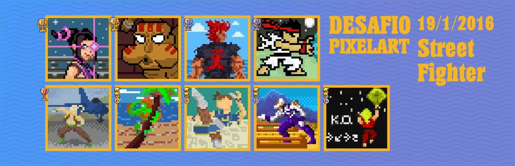 Desafio pixelart 19/1/2015 Street Fighter. by Christian223