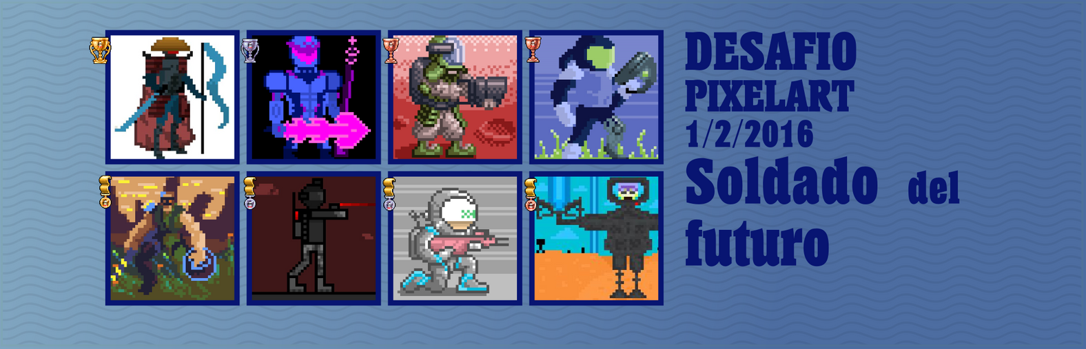 Desafio pixelart 1/2/2015 Soldado del futuro. by Christian223