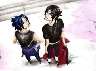 sasuke and itachi by PATmaruo