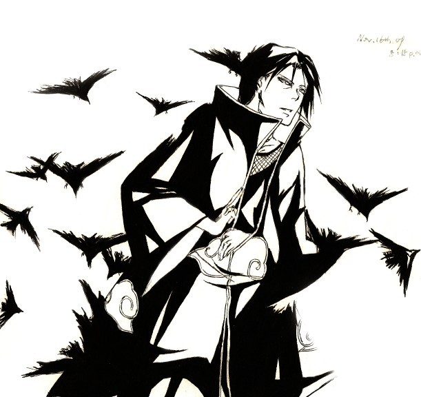 Itachi crows by PATmaruo on DeviantArt