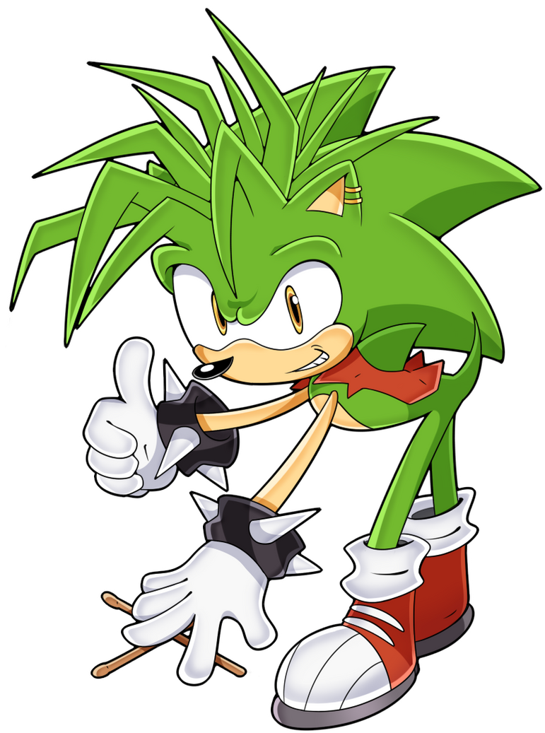 Manic The Hedgehog *OLD ART* by SonicTheEdgehog on DeviantArt